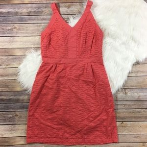 Old Navy 100% Cotton Coral Eyelet Sundress Dress